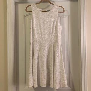 CeCe White Lace Sleeveless Dress, Size 12
